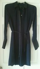 J Crew womens Belted shirtdress colorblock NWT size 00 $148 Navy/black #b7429