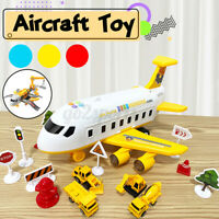 Music Story Simulation Track Inertia Children's Toy Aircraft Large Size Passenge