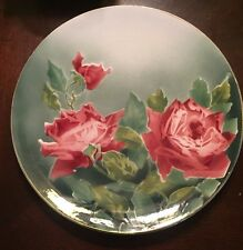 """Charger/Hanging Plate, K&G Luneville Roses, 12 1/2"""" 1920's -1930's"""