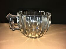 vintage jeannette, national clear punch bowl cups set of 11