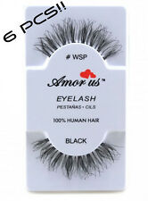 #WSP 6 Pair Amorus False Eyelashes Hand Made, Human Hair Compare to Red Cherry