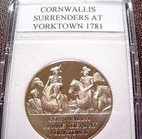American Revolution Proof Medal 46: Cornwallis Surrenders At Yorktown, 1781