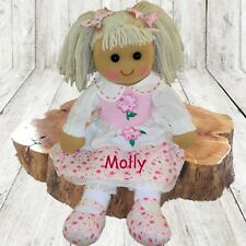 More details for personalised rag doll flower girl birthday new baby christening bridesmaid  gift