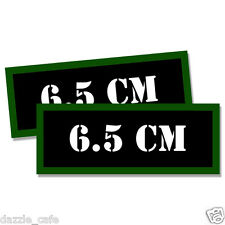 """6.5 CM Ammo Can 2x Labels Ammunition Case 3""""x1.15"""" stickers decals 2 pack"""