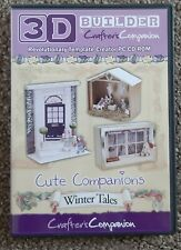 Crafters Companion 3D BUILDER Cute Companions WINTER TALES CD-Rom 154605 Templat
