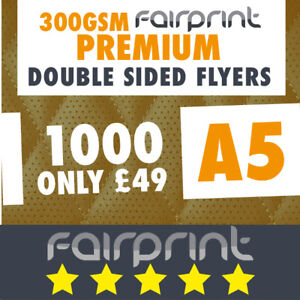 1000 A5 Flyers Leaflets Printed 300gsm Gloss