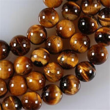 AAA+ Natural 8mm African Roar Tiger's Eye Round Loose Beads 15""
