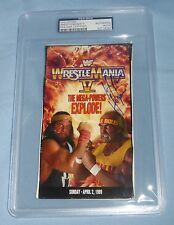 Hulk Hogan +17 Signed Wrestlemania V 5 VHS Cover & Lineup PSA/DNA WWE Autograph