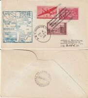 US 1950 FAM 34 FIRST FLIGHT FLOWN COVER HOUSTON TEXAS TO ASUNCION PARAGUAY