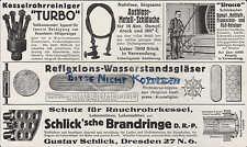 Dresde, publicidad 1918, Gustav fangosos humo-caldera-tubos-brand anillos