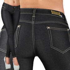 Sexy Women's Stretchy Low Waist Hipsters Black / Blue Trousers Skinny Slim N 481