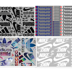 Heat Transfer Iron on Patches Lots mixed Sports Logo Whole sheet DIY for Cloth