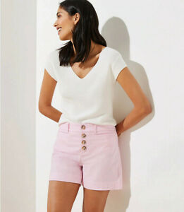 NEW Loft 12 Pink Button Front Shorts