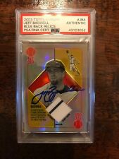 2003 Topps Chrome Game Used Jersey Jeff Bagwell Auto Psa/dna Certified