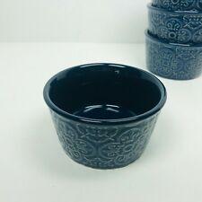 Venice Ramekin Blue Ceramic Set of 4 NEW