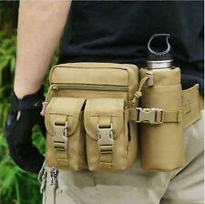 Sacoche tactique Multi poches + porte bouteille - Randonnée - Chasse - Pêche