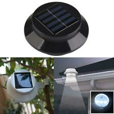 Solarize ®  Set of 4 Solar Gutter Fence Lights, Garden, 3 LED Outdoor  Wall Roof
