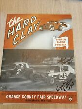 1975 Hard Clay Program Car Racing Orange County Fair Speedway Middletown NY