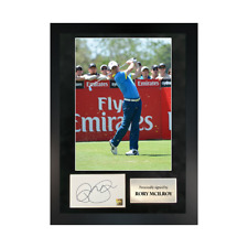 More details for authentic hand-signed rory mcilroy single photo a3 frame w/ coa