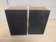 Set of 2 ONKYO S-05 Surround Sound Speaker Theater System Wood Box 7x6x11