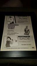 Sade, Shabba Ranks, Trey Lorenz Rare Radio Promo Poster Ad Framed!