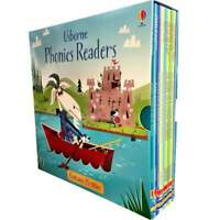 Usborne Phonics Readers 15 Books Collection Set, Shark in the park, Fox on a box