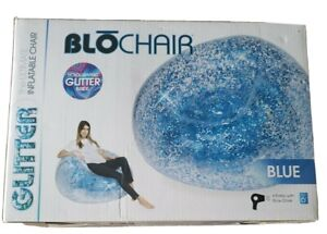 Blochair Inflatable Blue Glitter Holographic B&D Group 42 Inches Diameter