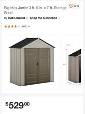Shed Big Max Junior 3 ft. 5 in. x 7 ft. Outdoor Storage Shed.