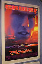 Original 1990 DAYS OF THUNDER 1 Sheet On Linen Rolled TOM CRUISE NASCAR CLASSIC