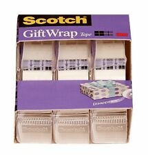 """New listing Scotch Tape 3M 4 Rolls 3/4"""" x 325 Inches Strong Secure Gift Tape Free Ship New"""