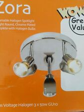 Dimmable 3 Round Light  Spot Lights,Chrome Plated