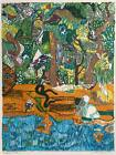 Romare Bearden, Dreams of Exile (Green Snake), Lithograph on Arches, signed and