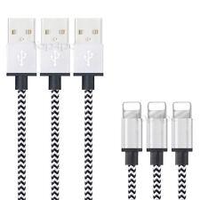CABLE POUR IPHONE X 8 7 6 5 PLUS IPAD CHARGER USB METAL RENFORCÉ BLANC 1M 2M 3M