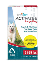 TevraPet Activate Ii Flea and Tick Prevention for Dogs – 4 Months For Large dog