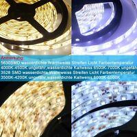 1-10m LED Stripe Warmweiß Kaltweiß Band Leiste Streifen SMD5630 3528 RF Netzteil