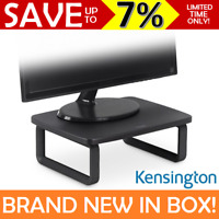 NEW Kensington SmartFit Monitor Stand HEIGHT ADJUSTABLE Computer Screen Black