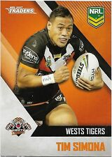 2017 NRL Traders Base Card (157) Tim SIMONA Wests Tigers