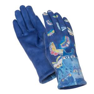 Laurel Burch INDIGO CATS and Butterflies Women's Gloves