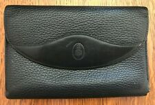Vintage Mark Cross Black Pebbled Leather Wallet Made In Italy