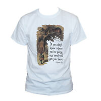 ALICE IN WONDERLAND CHESHIRE CAT Funny Printed T SHIRT Quote Graphic Men Women