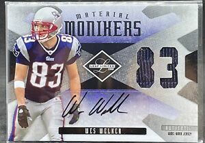 Wes Welker 2008 Panini Limited Patch Auto /50 PATRIOTS GAME USED