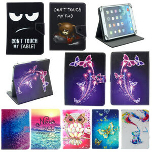 For iPad 10.1 in Tablet Universal Case Folding Stand Soft PU Leather Cover Gift