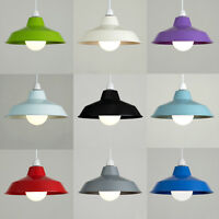 Retro Metal Ceiling Pendant Light Shade Lampshade Contemporary Easy Fit Kitchen