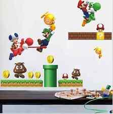 Super Mario DIY Removable PVC Wall Stickers Vinyl Decal Wallpaper Art Home UK