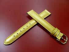 14 mm GOLD / GELB UHRENARMBAND DORNSCHLIEßE ARMBAND LACKLEDER UHRENBAND