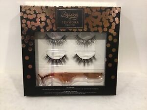 Sephora Collection Lilly lashes 3D Mink with Applicator Rose Gold NEW IN BOX!!