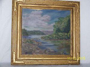 "O.S.Marckworth ""The Columbus Art League"" Madawaska River, Original Oil Landscape"