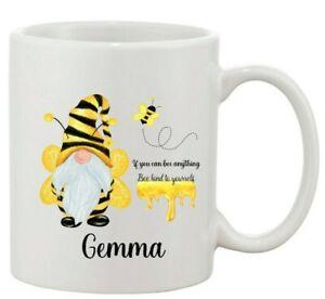 Personalised Bee / Gnome Mug, kind, Coffee mug, Tea mug, Cup