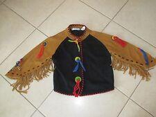 Ladies Michael Simon Black Indian Southwestern Western Cardigan Sweater M-L