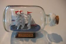 Ship in a Bottle Uss Constitution Turk's Head Macrame Neck. Nib